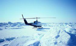 Sea ice studies in southern Chukchi Sea. Photo