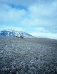 Helicopter support of seismic monitoring stations in the Katmai National Park area. Photo