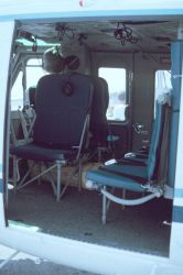 Interior of helicopter Photo