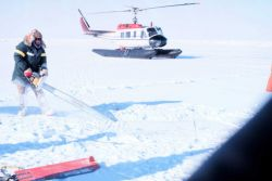 Helicopter operating in Beaufort Sea area Photo