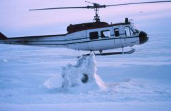 NOAA helicopter N56RF operating on the frozen seas of northern Alaska. Photo