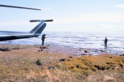 Scientists studying permafrost and spring melt on shores of Beaufort Sea Photo