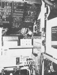 Technicians position in the B-50, an Air Force aircraft loaned to the Weather Bureau for hurricane research Photo