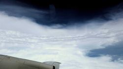 Eye of Hurricane Edouard. Photo