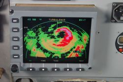 Nose radar image of Hurricane Dennis near time of Florida panhandle landfall. Photo