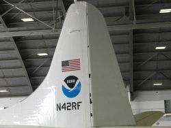 Tail of NOAA P-3 hurricane hunter N42RF Photo