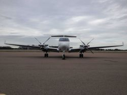 NOAA King Air (BC300 CER) N68RF on the ground at Tampa. Photo