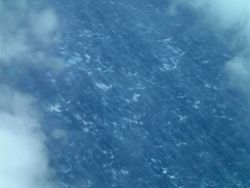 Sea surface during Hurricane Edouard caused by 65 knot surface winds. Photo