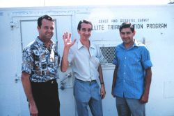 Station Number 019 - Sherrill Snellgrove on left with two Argentine assistants. Photo