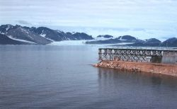 The pier at Ny Alesund. Photo
