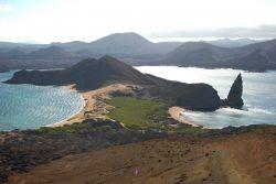 Pinnacle rock at Bartoleme Island Photo
