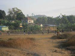 Children playng soccer Photo