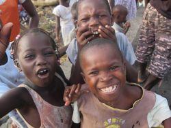 Children in Sao Tomean Fishing Village Photo
