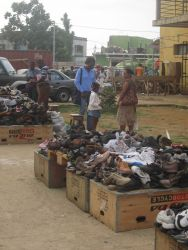 Outdoor market, Sao Tome Photo
