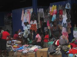 Outdoor market, Sao Tome Photo