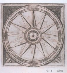 Image -3 of sequence - A decorative wind rose in: Philosophi ac medici... Photo