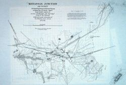 Map of Manassas Junction constructed by Coast Survey Assistant Henry L Photo
