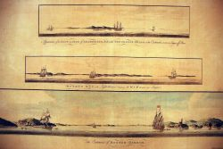 Various views showing approaches to Boston in: