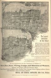 Advertisement for the World's largest sanitarium at Battle Creek, Michigan Photo
