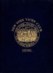 Embossed book jacket of handbook for New York Yacht Club 1896. Photo