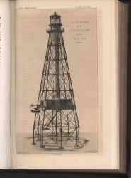 Artist's conception of an iron pile lighthouse to be erected at Coffin's Patches Reef, Florida Keys Photo