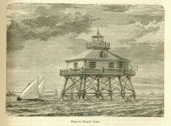Thimble Shoal Lighthouse in La Nature. Photo