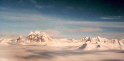 Taku Glacier after fall snows. Photo