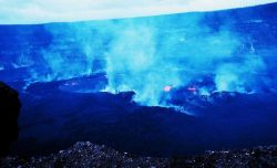 Halemaumau Fire Pit within Kilauea Crater at Volcanoes National Park Photo