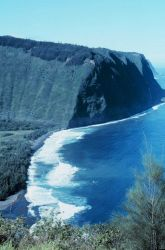 Looking northwest across the Waipio Valley to the Kohala Mountains On the northwest tip of Hawaii. Photo