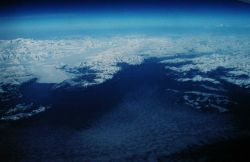 Prince William Sound - Valdez Arm in the right center, Columbia Glacier in left center Photo