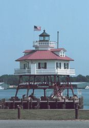 Drum Point Lighthouse, now a museum, stood watch at the mouth of the Patuxent River. Photo