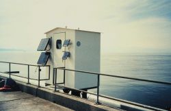 The tide house which houses an A.I.&NXG tide gage installation. Photo