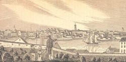 A view of Charlestown from the cemetery on Copp's Hill in Boston Photo
