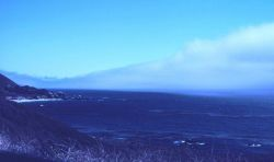 Coastal fog creeping in to the Big Sur coastline Photo