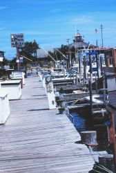 Recreational sport fishing boats at a pier in Lewes Photo