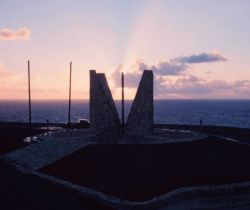 Sunrise at the Point Udall Millennium Monument Photo