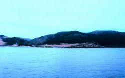 Carmel Valley and Carmelite monastery as seen from Carmel Bay Photo