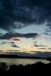 Looking southwest across Gig Harbor to Fox Island. Photo