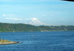 View of Mount Rainier from Gig Harbor. Photo