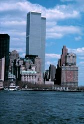 The World Trade Center as seen from the Governor's Island Ferry. Photo