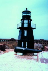 The lighthouse at Fort Jefferson, Dry Tortugas National Park. Photo