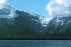 A hanging glacial valley in Tann Fjord. Photo