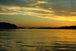 San Juan Islands sunset. Photo