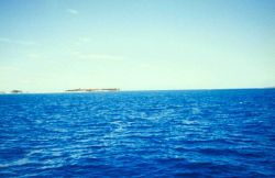 Approaching Fort Jefferson from the east. Photo