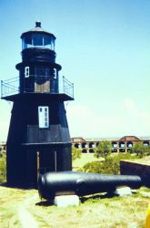 The lighthouse at Fort Jefferson with a Dahlgren cannon Photo