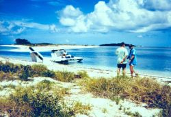 An amphibious plane at Fort Jefferson Photo