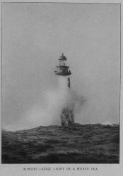 Minots Ledge Light in a heavy sea, off Boston Harbor Photo