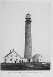The Petit Manan Lighthouse, Maine: A granite tower Photo