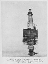 Stannard Rock Lighthouse, Michigan; in Lake Superior, 24 miles from the nearest land Photo