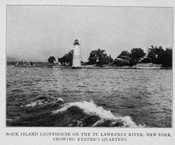 Rock Island Lighthouse on the St Photo